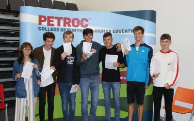Another record-breaking year for Petroc's A-level students