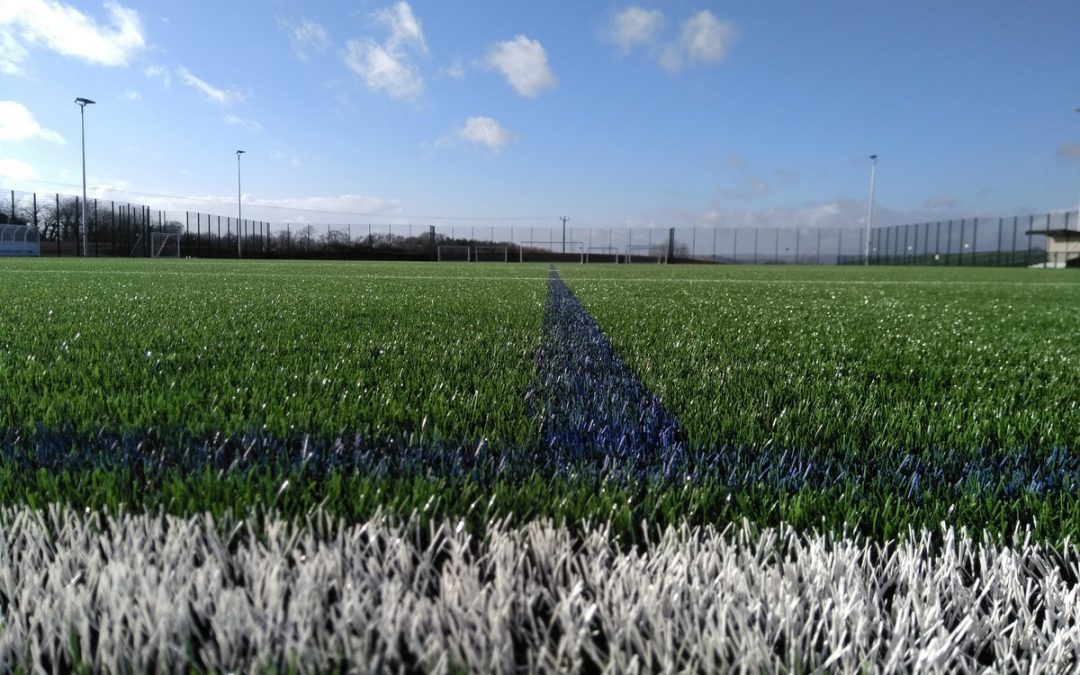 Progress made: Brand new 3G pitch taking shape at future South Devon College Sports Centre