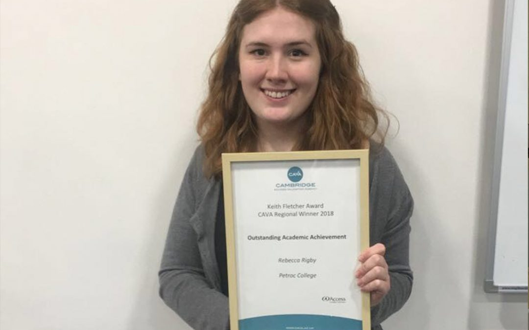 Access to HE student awarded for outstanding achievements in prestigious competition