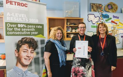 Petroc in top 20% in country based on value added at A-level