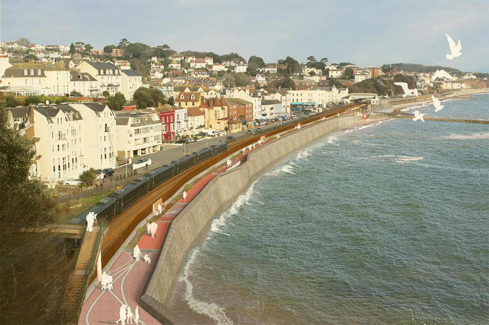 Network Rail submits plans for improved sea wall at Dawlish as part of the South West Rail Resilience Programme