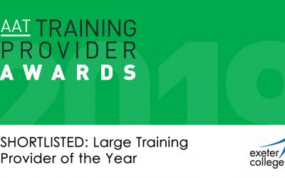Exeter College Finalist for Coveted National Accountancy Training Provider Award