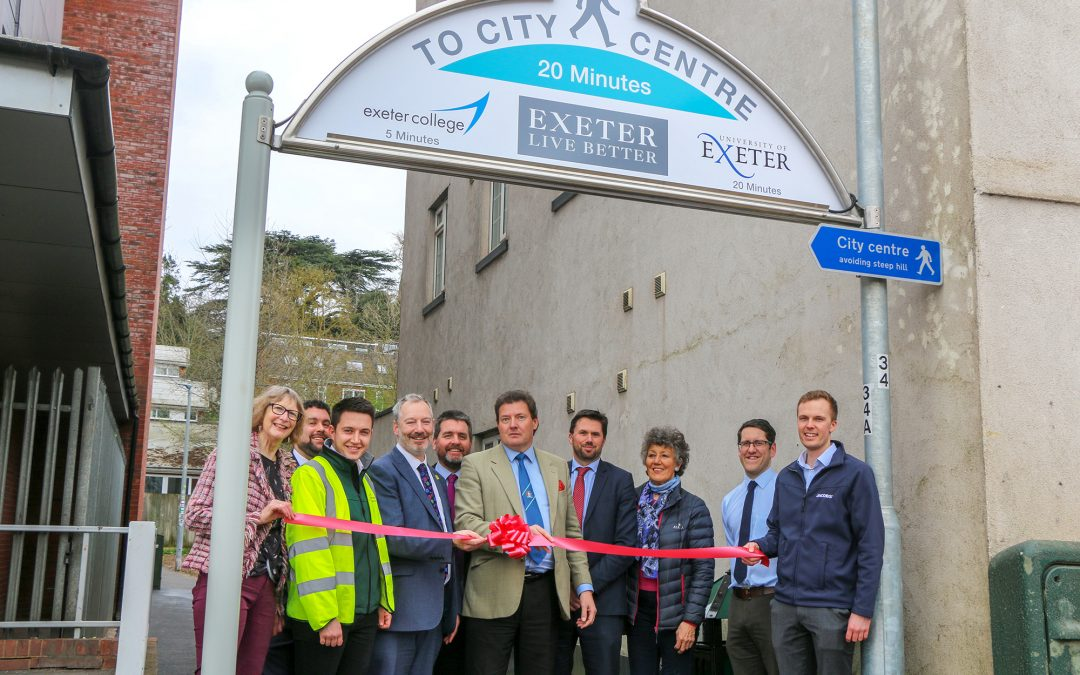 Investment in local community project to improve one of Exeter's most used pathways