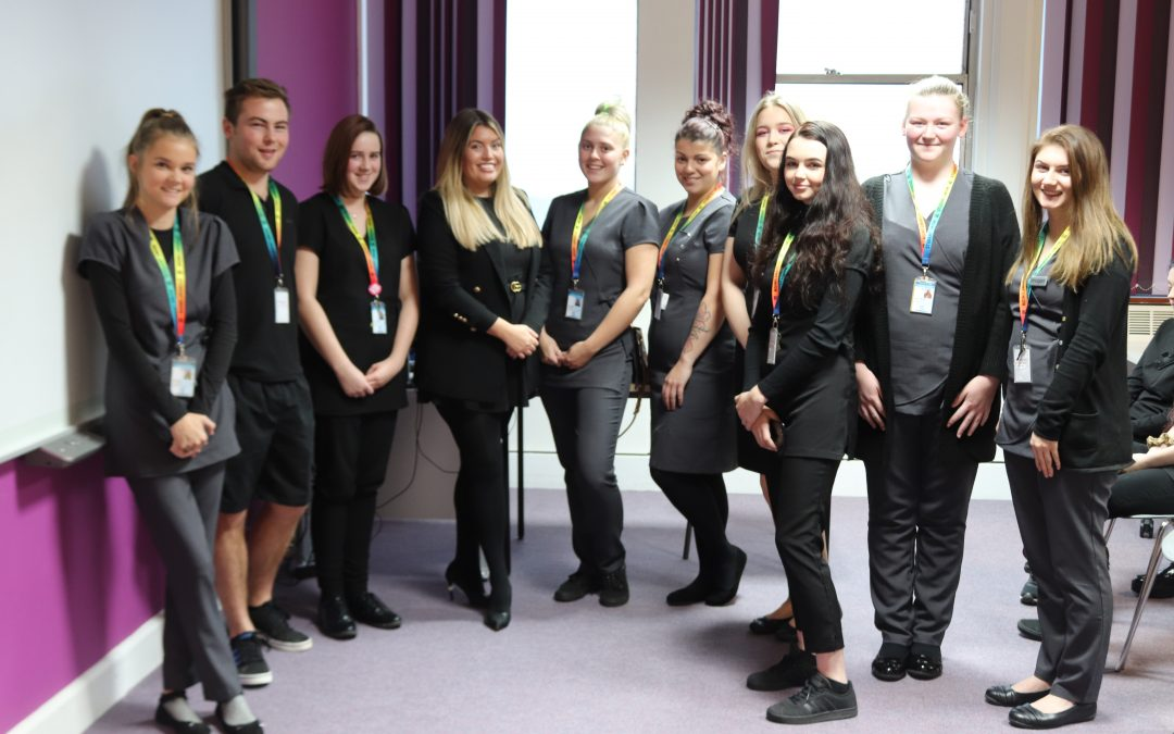 Students onboard with future beauty careers at sea