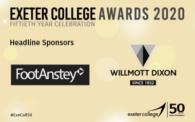 Foot Anstey and Willmott Dixon announced as headline sponsors for Exeter College Awards