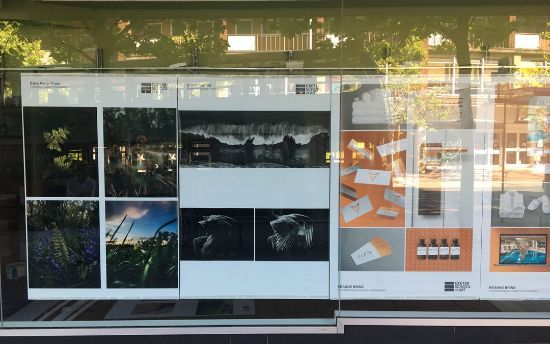 Art students' work revealed in Exeter city centre as lockdown eases