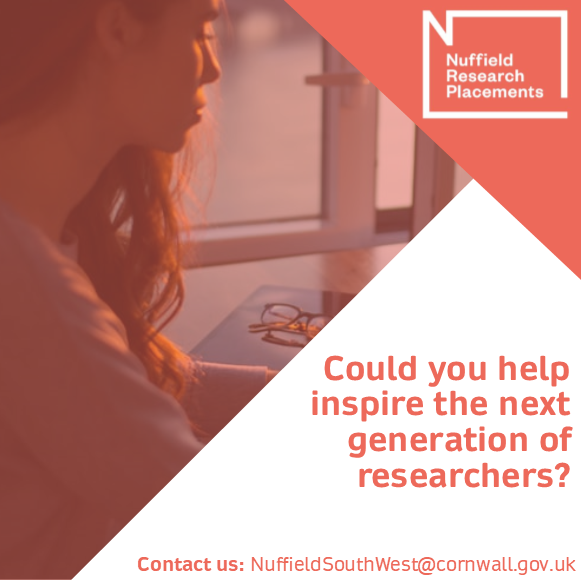 Can you help to inspire the next generation of researchers?