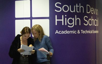 South Devon High School students celebrate another year of brilliant GCSE results