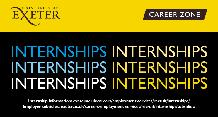 University of Exeter's 'SW Business Funded Internships'- Applications now open!