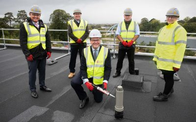 """Exeter Science Park marks another milestone with the """"topping out"""" of a new net-zero carbon building"""