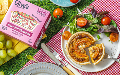World's first Vegan Quiche Lorraine from Clive's Purely Plants
