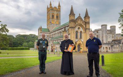 Latest life-saving defibrillators installed at Buckfast Abbey