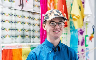 South Devon College Art Exhibition marks start of new chapter in Mitch's journey of pride
