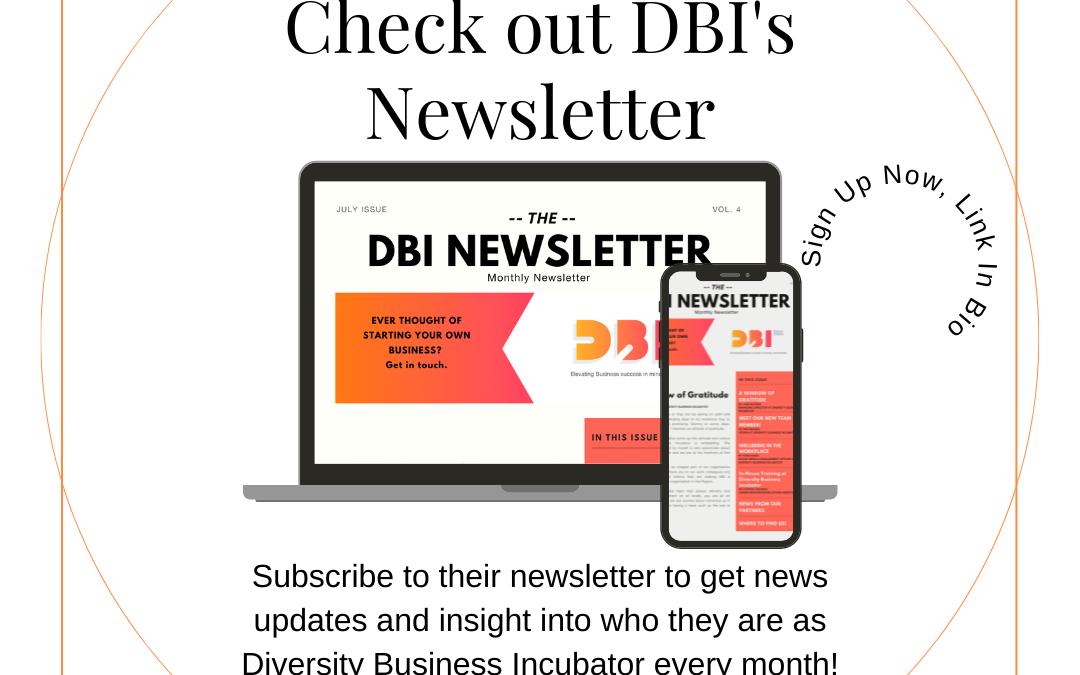 Diversity Business Incubator Newsletter